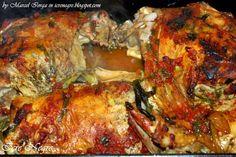Icre Negre: Pulpă de miel împănată (cu slăninuţă şi usturoi) Romanian Recipes, Romanian Food, Lamb, Chicken, Cooking, Honey, Pork, Meat, Chef Recipes