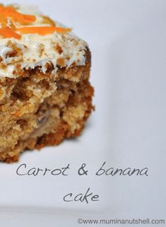 A deliciously moist carrot and banana cake recipe perfect for using up overripe browning bananas. This does on the healthier side of cakes so no guilt needed! Cake Recipes, Dessert Recipes, Desserts, Dessert Ideas, Carrot Banana Cake, Banana Bread, Recipe For Banana Cake, Banana Pudding, Indian Cake