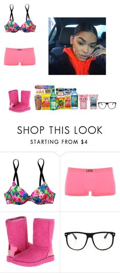 """-Glo Queen"" by thegloup-reina on Polyvore featuring Victoria's Secret PINK, Charlotte Russe and UGG Australia"