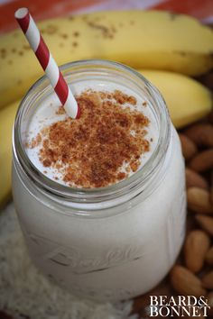 Horchata Smoothie {Beard and Bonnet