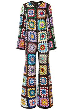 Multicolored sequined georgette Concealed zip fastening along back viscose Dry clean Imported Crochet Granny, Crochet Shawl, Hand Crochet, Knit Crochet, Knit Fashion, Look Fashion, Gothic Fashion, Crochet Clothes, Diy Clothes