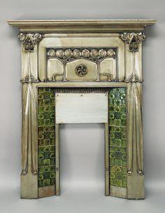 Tiled Metal Fireplace JOHN EDNIE, CIRCA 1900