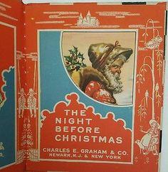 4 Children Book Series The Night Before Christmas Br'er Babbitt circa 1920's