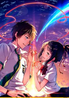 Wie 32 Bilder für mehr Bonitas von Kimi no Na wa (Ihr Name) – Carla Winne – Best Picture For wallpaper anime boku no hero For Your Taste You are looking for something, and it is going to tell you exactly what you are looking for, and you didn't find … Couple Amour Anime, Couple Manga, Anime Love Couple, Cute Anime Couples, Anime Love Movies, Manga Anime, Film Manga, Film Anime, Anime Boys
