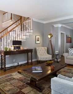 Traditional Modern Living Room Fresh Modern Eclectic Living Room by Darbyshire Designs Traditional Living Room Austin by Grey Walls Living Room, Eclectic Living Room, Living Room Paint, My Living Room, Living Room Designs, Living Room Decor, Cozy Living, Canapé Design, Design Ideas
