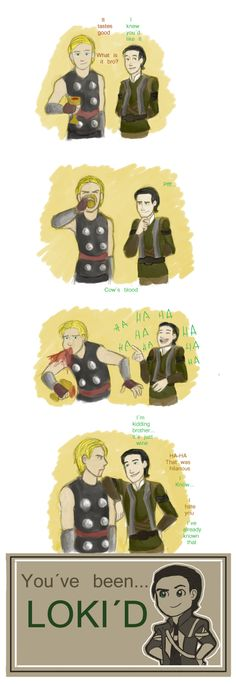 I wonder how many times Thor's been Loki'd. Must be in the thousands.