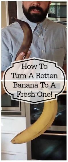 Resurrect a rotten banana with household items. I need to know why this works though! What's the science ? Plant Based Recipes, Raw Food Recipes, Cooking Tips, Cooking Recipes, Healthy Life, Healthy Food, Fruit And Veg, Kitchen Hacks, Things To Know