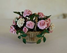 Garden of Miniatures, Jeannette Buchholz  roses, Lidi Stroud basket
