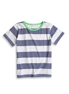 Summer collection 2013. Boys fashion from www.charlieandmekids.com Solid And Striped, Striped Tee, Wide Stripes, Mens Style Guide, Big Men, V Neck Tee, Summer Collection, Boy Fashion, Style Guides