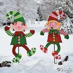 home decor christmas Elf Yard Decoratio - Hanging Christmas Lights, Christmas Yard Art, Christmas Wood, Christmas Holidays, Christmas Wreaths, Christmas Crafts, Christmas Ornaments, Elf Decorations, Christmas Yard Decorations