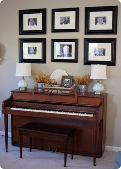 learn how to play piano. okay well maybe learn a few songs (easy songs · Upright Piano DecorPiano . Piano Living Rooms, Living Room Furniture Layout, Formal Living Rooms, Home Living Room, Living Room Designs, Piano Room Decor, Painted Pianos, Inspiration Design, Decoration