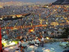Lycabettus Hill, Athens, Greece — by BillieB. The hill of Lycabettus is the highest peak of Athens, which overlooks the capital from 277 meters. Athens Airport, Athens City, Athens Greece, Places To Travel, Places To See, Travel Destinations, Greece Travel, Greece Trip, Luxury Travel
