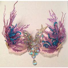 Mermaid Bra ($160) ❤ liked on Polyvore featuring intimates, bras and rhinestone bra