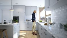 Familijny 1 - DOMY Z WIZJĄ 20 M2, Kitchen Cabinets, Table, Furniture, Farmhouse, Home Decor, Ideas, House, Kitchen Cabinetry