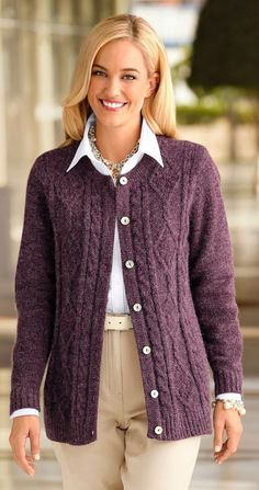 Cardigans For Women, Fashion Outfits, Fashion Clothes, My Style, Crochet, Sexy, Sweaters, How To Wear, January 10