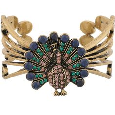 Peacock Filigree Cuff found on Polyvore