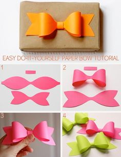 diy paper bow diy crafts craft ideas diy ideas diy crafts crafty easy diy easy craft diy bow craft bow