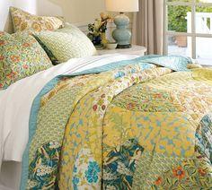 Blue & green bedding