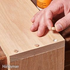 Wooden Plugs Hide Screw Heads Using plugs is an easy way to hide screw heads. Simply drive a countersink bit deep enough to create a recess called a counterbore. Then just drive your screws, add a little glue, and gently tap the plugs in.