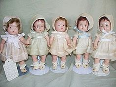 Priceless little faces and memories ~ set of Madame Alexander Dionne Dolls