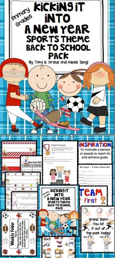 Sports themed classrooms | Elementary Sports Themed Classroom. All you need to set up your classroom with a sports theme. Start the year off with a touchdown! $