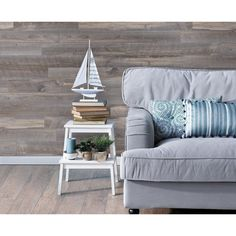 Genuine engineered hardwood wall planks with adhesive peel and stick backs. Available in many styles and colors, shop peel and stick wood wall planks today. Stick On Wood Wall, Peel And Stick Wood, Wall Wood, Wood Planks, Wood Paneling, Barn Wood Projects, Wood Panel Walls, Fireplace Wall, Reclaimed Barn Wood