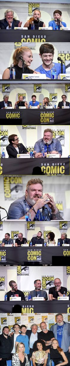 The Game of Thrones panel at SDCC 2016: executive producers David Benioff and…