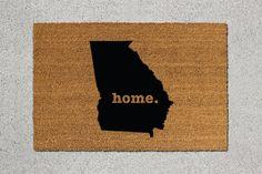 Georgia Doormat, Georgia Door Mat, Georgia Welcome Mat, Georgia State Doormat, Doormat, Door Mat, State Doormat, Welcome Mat, Georgia Mat