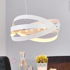 LED-Pendelleuchte Cara mit weißem Finish, 60 cm sicher & bequem online bestellen bei Lampenwelt.de.