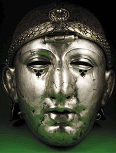 Máscara de um gladiador - perceba os traços  indianos, fruto de    influências culturais advindos dos povos conquistados