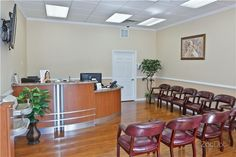 Front Desk/Waiting Room at Da Vinci Dental Specialists in Warminster, PA