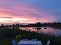 A stunning Lincolnshire sunset, from the garden at Seaside Lodge.