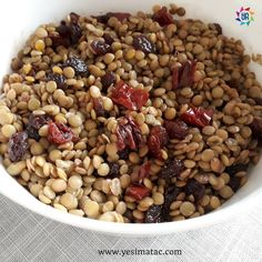 Lentil Salad with raisin and dried tomatoes