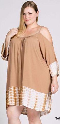 58c1399636e Details about Kori America Plus Size Cold Shoulder Dress * 2 Colors * Tie  Dye Open Back PD1318