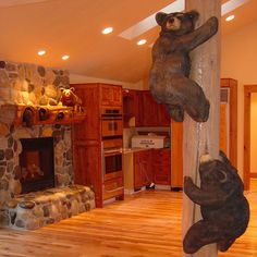 check out the fireplace mantle