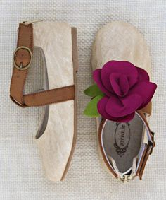 & Brown Taylor Skimmer Flat - Girls by Joyfolie on #zulily today!