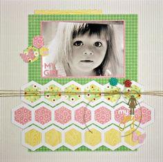 My Girl My Joy Layout by Sheri Feypel via Jillibean Soup Blog