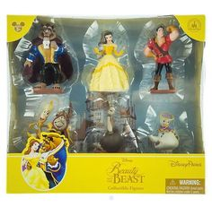 Disney Parks Beauty & The Beast 6 Figurine Playset Cake Toppers