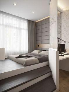 Size bed black modern king platform