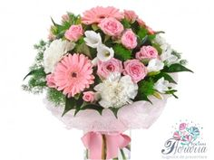 Arriving of a new baby into the world is a magnificent experience, not only for the parents, but for their friends and family too. The best gift that can be given at this time is obviously the flowers. Our Wedding, Dream Wedding, Vase Arrangements, Flowers For You, Spray Roses, Gerbera, Flower Delivery, Carnations, Flower Vases