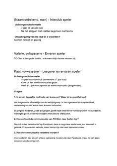 Interview/gesprekken (2/3)