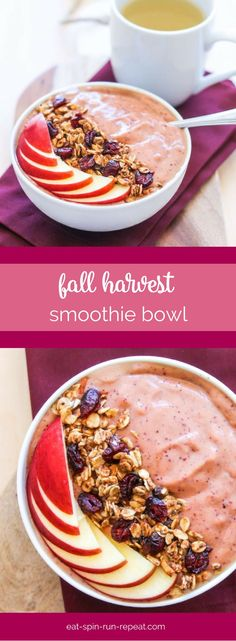Fall Harvest Smoothie Bowl - Some of fall's best produce all in one super nutrient-dense vegan smoothie bowl. You'll never know there's hidden veggies inside!