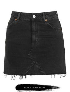 Pick Of Today: Black Denim Skirt. | Victoria Törnegren | Bloglovin'