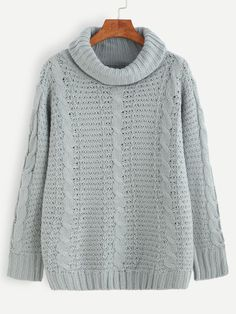 2633c059093a J.Crew Aran Crafts wool cable turtleneck sweater
