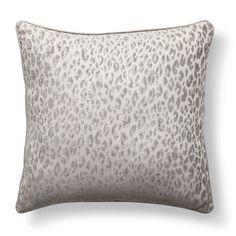 Adorn Home Printed Decorative Pillow - Silver/Gray
