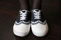 DIY oxford sneakers