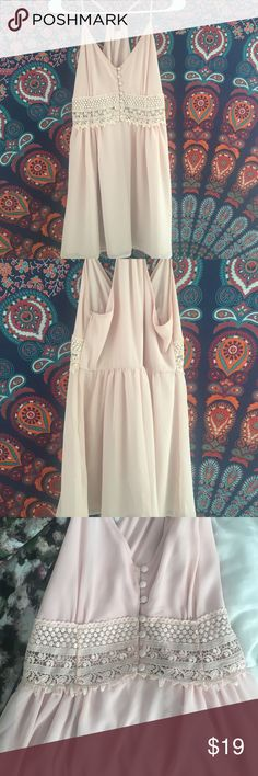 I am selling t because I bought the wrong size. Blush pink razorback dress. Has NEVER been worn before Forever 21 Dresses Mini
