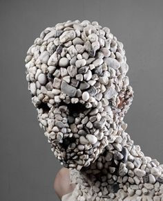 Gravel Figure from the Material Transfer Series by Levi Van Veluw