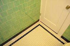 green vintage tile