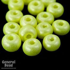 6/0 Pearl Neon Yellow Seed Bead